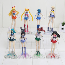 15cm Japanese Anime Sailor Moon Mercury Mars Venus Tsukino Usagi Hino Rei Ami PVC Action Figure Toy Christmas gifts