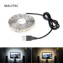 USB Cable Charger Power Supply 5V USB LED Strip 5050 Christmas light TV LED Backlight Waterproof String lamp RGB/Warm/Cool White(China)