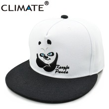 CLIMATE 2017 New Style China Cute Cartoon Panda Adjustable Hiphop Snapback Cap Young Men Women Youth Zoo Animal Fans White Hat(China)