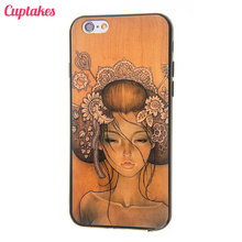 Cuptakes Luxury Classical Sleeping Beauty Soft Silicone Case for iPhone 6 Cover Rubber SE 5S 6S 7 Plus Phone Cases Coque film
