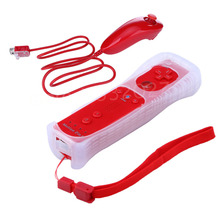 6 colors Built in Remote Controller Motion Plus Inside + Nunchuck Controller + Silicone Case for Nintendo Wii Wii & for Wii u