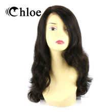 Chloe 100% Human Hair Wigs Body Wave Brazilian Virgin Hair Lace Frontal Wigs Density 130% Free Shipping(China)