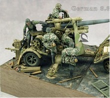 1/35 Scale WW2 German Anti-Aircraft Gun Groups 5 Figures (not including gun) WWII Resin Model Kit  Free Shipping