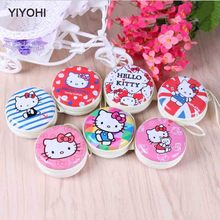 YIYOHI 2017 New Fashion Cartoon Coin Purse Hello Kitty Princess Girls Key Case Wallet Children  Headset Bag Women Coin Packet