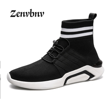 ZENVBNV 2017 Men's Shoes Casual Shoes Fashion Fly Weave Breathable Lightweight Man Shoes Comfortable Soft Leisure Brand Footwear(China)
