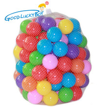 100pcs/lot Eco-Friendly Colorful Soft Plastic Water Pool Ocean Wave Ball Baby Funny Toys Stress Air Ball Outdoor Fun Sports(China)