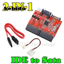 "kebidu 2 in1 Mutual 40pin IDE to SATA / SATA to IDE 2.5"" Cable Converter Adapter for DVD CD HDD Bidirectional Transfer Computer"
