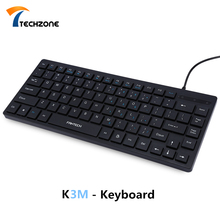 FANTECH K3M 84 Keys Water Leakage USB Wired Keyboard with 1.4m Cable Slim and Fashion Design for Computer / Home / Office Black