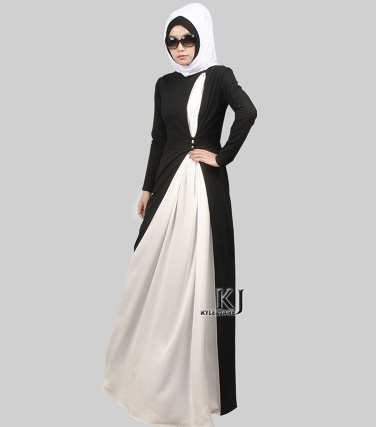 Мусульманских Плюс размер исламская абая джилбаба исламская одежда для женщин Био-полировки белый шифон бисер vetement femme turque 4-0226(China)