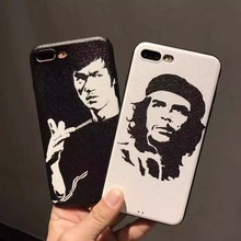Painting sketch Bruce-Lee Ernesto Guevara Vinyl dermatoglyph gel soft silicone case for iphone 6 6s 6 s 7 plus phone cases cover