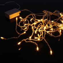 1.5 x 0.65m Led Curtain Icicle String Lights New Year Wedding Party Garland Led Light for Outdoor Christmas Decoration(China)