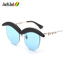JackJad 2017 New Fashion Trend Vintage Eyebrown Shape Frame FRIDA KAHLO Sunglasses Women Brand Design Sun Glasses Oculos De Sol