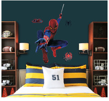 Spider man Poster Super Hero Sticker Flower Wall Dec Funny Bedroom for Children Joy Wall Sticker Decal Poster Heart Home Decor