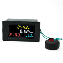 4 IN 1 HD Color Screen 180 Degrees Flawless LED Voltmeter Ammeter voltage current Power Energy Meter Monitor AC 80-300V 100A(China)