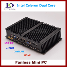 4GB RAM 500GB HDD Mini pc thin client computer Intel Celeron 1037U Dual core CPU, 2*1000M LAN, 4*COM, 2*USB 3.0, 300M WiFi,HDMI