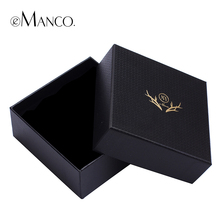 Jewelry package box high quality gift boxes black 11*11*5 elegant practical high quality jewelry present box eManco JB00012