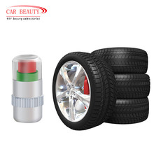 Tire Pressure Monitor Valve Stem Cap Sensor Indicator 32 Psi 2.2 Bar Air Warning Alert Valve Pressure Diagnostic Tools Kit