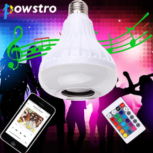 Wireless Bluetooth 3.0 Music Bulb Light Intelligent E27 Bulb 12w LED Speaker Color-changing for Home Stage By Samrtphone