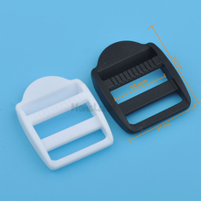 Wholesale Free shipping 60pcs 26mm 1inch POM adjustable buckles plastic ladder buckle luggage backpack staps black/white HLD/M16