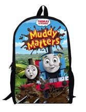 17inch little trains backpack double layer custom made children Schoolbag train Kids Cartoon train bag men bags