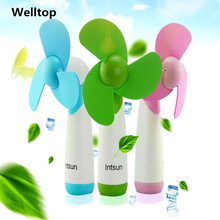 Super Mute Portable Mini Fan Battery Operated Air Cooling Handheld Fans Small light Multicolor Electric Personal Fan ventilator