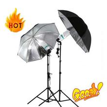 "33""/83cm Studio Flash Light Lighting Black Silver Umbrella Reflective Umbrella Reflector Photography Photo Studio kits"