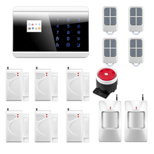 English/Russian/French/Spainish Voice PSTN GSM Alarm System for Home with 99 Wireless Guard Zone 2 Wired Guard Zone