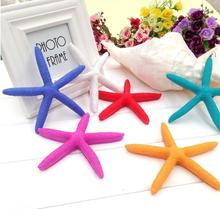 13cm Beautiful Starfish Home Decoration colorful Organic Material Room ocean Natural Crafts Mediterranean Style Resin starfish(China)