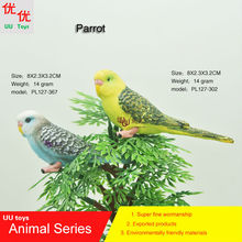 Hot toys: Parrot  family pack Simulation model  Animals   kids  toys children  Action Figures Action Figures Collections