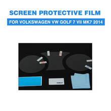 Screen Protective Film PET Car Dashboard Protectors For Volkswagen VW Golf 7 VII MK7 2014(China)