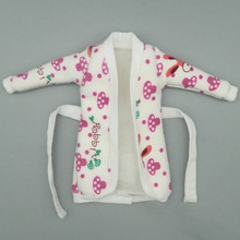 Mini Doll Accessories Bathrobe Bathroom Suits Winter Pajama Wear Sleeping Casual Clothes For Barbie Doll Play House Toys(China)