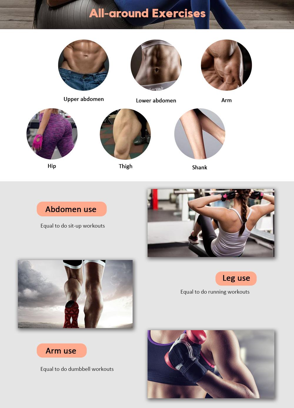 Stimulator Weight Loss Muscle Massage Slimming Massager Smart Fitness Device
