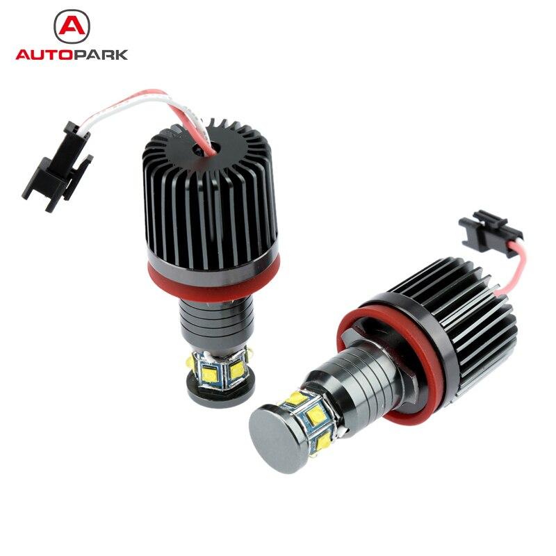 2Pcs 48W LED Angel Eye for BMW E90 E92 E93 X5 Daytime running light Halo Ring Marker Light Bulb  White<br>