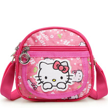 HelloKitty messenger bag girls student crossbody bag cartoon cute school satchel shoulder bag pink(China)