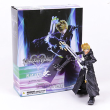 Play Arts KAI Kingdom Hearts Roxas  Organization XIII Ver. PVC Action Figure Collectible Model Toy