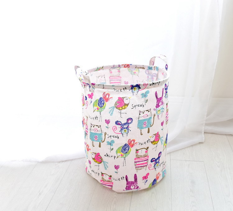 Free shipping Laundry Basket Storage 40*50cm Large Basket For Toy Washing Basket Dirty Clothes Sundries Storage Baskets Box 14