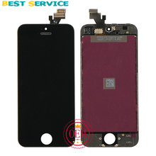 100% New For iPhone 5 LCD Display + Touch Screen Digitizer +Bezel Frame +LCD Foam + Camera Ring+ Sensor Ring +Tool Free Shipping