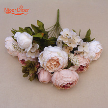 New Artificial Fake Peony Silk Purple Flowers Bridal Bouquet Party Garden Decor Gift