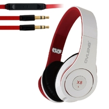 Original OVLENG X8 Folding Portable Game Stereo Headsets Headphone with 3.5mm Audio Cable for Iphone 4 4S 5 5C 5S 6 Laptop Phone