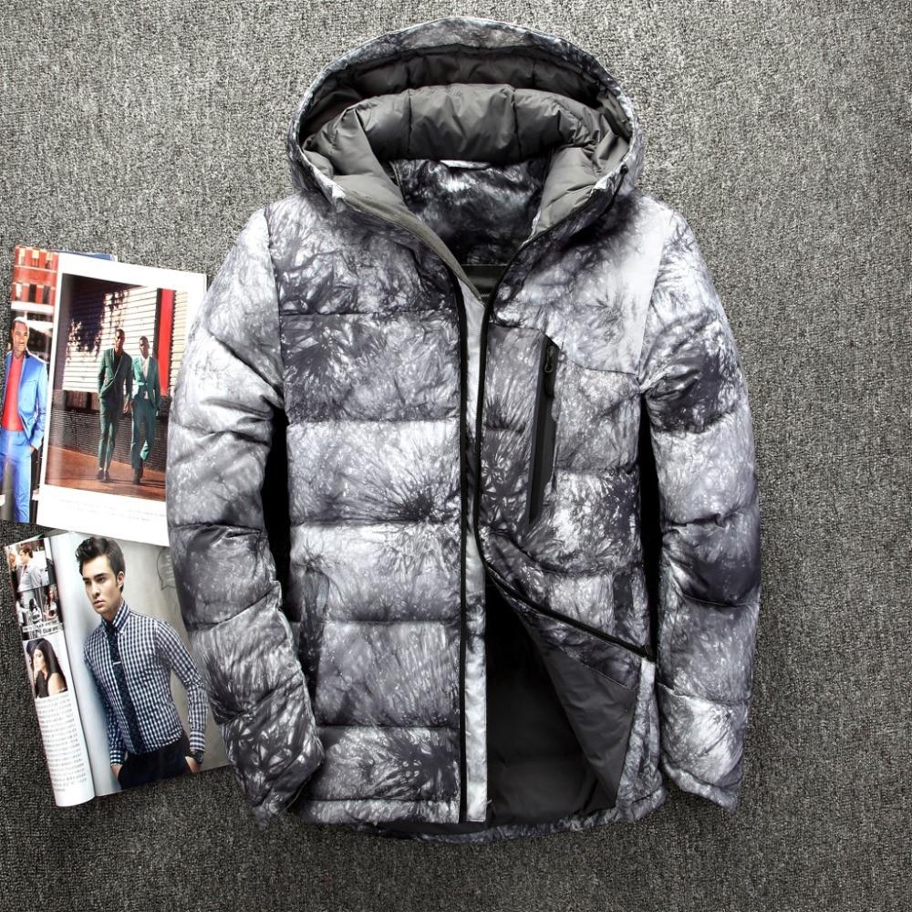 2018 Hot Fashion Hooded Winter Coat Men Thick Warm Mens Winter Jacket Fathers Gift Parka,Dark Blue,XL