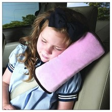 Baby Car Auto Safety Seat Belt Harness Shoulder Pad Cover Pink Children Protection Covers Cushion Support Pillow(China)