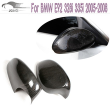 Buy Carbon Fiber Add style Side Wings Mirror Covers Fit BMW E92 328i 335i 2005-2008 Rearview Mirror Caps Car Styling for $80.62 in AliExpress store