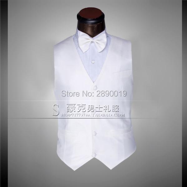 2017 Groom Vests Groom Tuxedos Groomsmen Suit Vest Custom Made Slim Fit Best Man Suit Wedding Men's Suits Bridegroom Vest