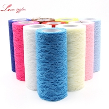 15CMx10Yard Tull Organza Lace Roll Fabric Ribbon DIY Home Garden Wedding Event Party Chair Sash Bow Table Runner Decoration(China)