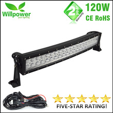 120W dual rows Combo beam curved 21 inch 4x4 offroad car work led light bar 12v 24v for JEEP 4WD Truck Boat