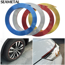 4M/lot Car Chromium Plating Exterior Rim Door Grille Sitkcers For KIA Toyota Nissan BMW Audi Styling wheels rims & Accessories