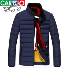 cartelo brand MEN's 2016 winter new MEN's JACKET stand collar WHITE DUCK DOWN JACKET solid color thin MEN DOWN JACKET MEN winter