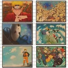 Anime naruto poster Uzumaki naruto Kraft Paper Posters Bar Cafe wall sticker child's room decoration,/5063