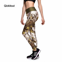 Qickitout Leggings New 2017 Fashion Women's Wooden Animal Owl 3D Print PANTS Women High Waist Pants Trousers Fitness Top Sales(China)