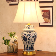Bedroom vintage table lamp china living room Table Lamp for wedding decoration ceramic art table lamp antique blue and white